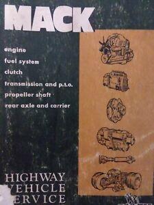 Mack Highway Tractor Truck Major Overhaul Repair Shop Service Manual 1967-1975