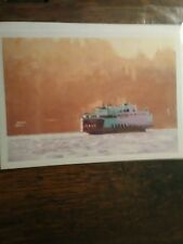 WASHINGTON STATE FERRIES EVERGREEN STATE GREETING CARD PUGET SOUND FERRY