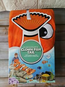 Clown Fish Tail Blanket Plush & Playful Throw Wrap Sequined Home/ Travel New