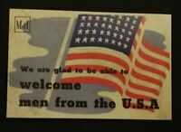 WWII POSTCARD SIZE 2 SIDED WITH AMERICAN ARMED FORCES INVITE TO LORD MAYOR 1944