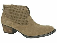 Jessica Simpson Women's Dacia Perforated Booties Totally Taupe Suede Size 11 M