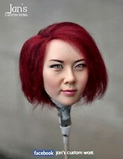 1/6 CUSTOM REPAINT REHAIR female figure head sculpt kumik Hot toys phicen girl