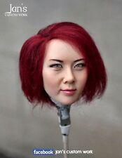 1/6 CUSTOM REPAINT REHAIR female figure head sculpt kumik Hot toys phicen girl