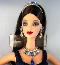 QUEEN OF SAPPHIRES BARBIE DOLL 2nd N Royal Jewels Col 2000 NRFB Swarovski Ltd Ed