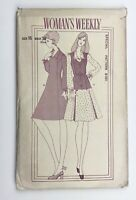 """1970's Vintage Sewing Pattern Woman's Weekly B581 Dress and Waistcoat Bust 38"""""""