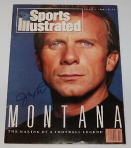 JOE MONTANA SAN FRANCISCO 49ERS AUTOGRAPH AUG 1990 SPORTS ILLUSTRATED MAG W/COA
