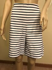 NWT Chico's Tailored Stripe Print Short Size 2 Ultimate Fit Color White&Black$79