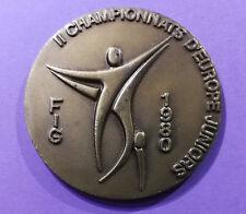 Médaille de table, 2ème championnats d'Europe Junior FIG, 1980 à Lyon