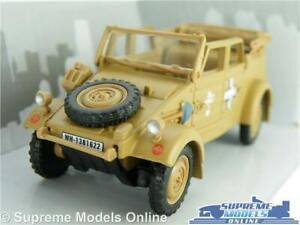 VOLKSWAGEN KUBELWAGEN TYPE 82 MODEL CAR 1:43 SAND CARARAMA OPEN TOP VW KUBEL R0