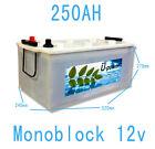 Baterías 250Ah Acido Plomo monoblock Fotovoltaica Baterias solar 12v