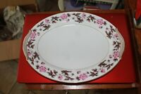 "Noritake China Pattern Delrosa #5208 Platter 13 3/4"" Made in Japan"