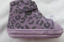UGG baby girls 0 6 months XS purple suede leopard print booties boots Roldan NEW