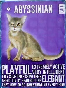 Platte Metall Vintage Katze Abessinier Cats - 40 X 30 CM