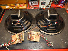 2 Vintage Jensen P12RJ Woofers with Crossovers from Fisher Console