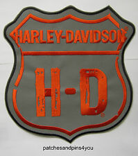 Harley Davidson Large Reflective Road Trip Sew On Emblem Patch New!