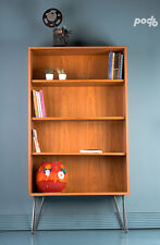 Vintage G PLAN Mid Century Retro Teak Bookcase Display Cabinet  on Hairpin Legs