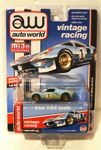 auto world Mijo Exclusive vintage racing Ford GT40 Le Mans 24 Hour 1966