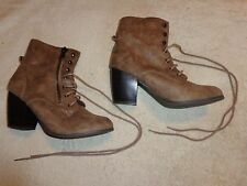 MAURICES LACE & ZIPPER BOOTS WOMENS SIZE 10   (3 INCH HEEL) STYLE # 46796/HAYDEN