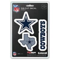 Dallas Cowboys Auto Decal NFL Car Sticker Pack of 3