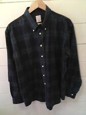 *BROOKS BROTHERS*  346 Men's Long Sleeve Plaid (Green / Blue)Shirt Size Large