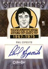 09-10 premier stitchings phil esposito boston bruins patch autograph auto 23/25