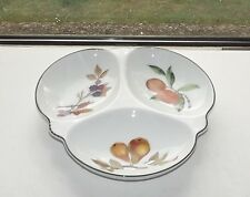 Royal Worcester Evesham Vale 3 Section Clover Dish Serving Bowl Autumn Fruits