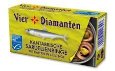 """12x Kantabrische Sardellenringe von """"Vier Diamanten"""" Fisch Konserve Delikatesse"""