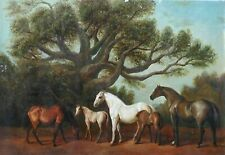 """36""""x 24"""" Oil Painting on Canvas, Horses, Hand Painted"""