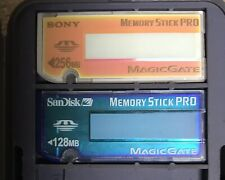 Memory Stick Pro Camera Memory Card: Case With  1- Sony 256MB, 1- Sandisk 128MB