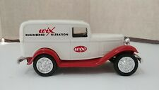 Vintage 1990's Ertl Diecast Bank With Key Wix Filters 1932 Ford Delivery Van!