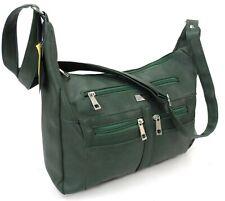 Women Faux Leather Handbag Long Handle Multi Pocket Cabin Bag Shoulder Bag Purse
