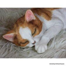 Gartenfigur Katze braun 9015A schlafend liegend Haus Garten lebensecht Figur