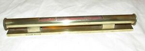 Quality antique heavy brass spirit level by Guedville Barcelona old tool
