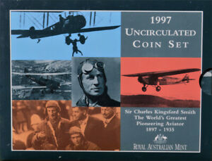 RAM 1997 MINT SET 6 UNC COINS - SIR CHARLES KINGSFORD SMITH SIX COIN UNCIRCULATE