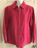 Chico's Pink suede leather jacket Size 3 (Extra large) XL