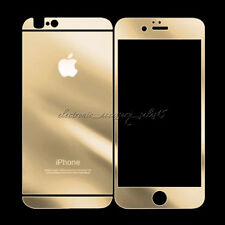 Front Back Electroplated Tempered Glass Screen Protector Mirror for iPhone 6/6s
