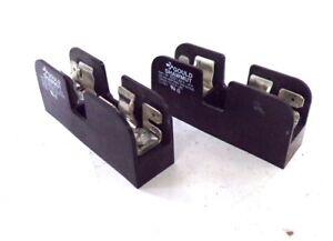 GOULD SHAWMUT FUSE BLOCK/HOLDER, 30321, 30 AMPS, 600 V, 1 POLE, LOT OF 2