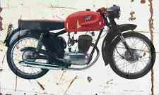 MV Agusta 125TR 1954 Aged Vintage SIGN A4 Retro