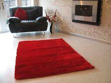 BRAND NEW RED SHAGGY DESIGNER RUG 150x75cm LOOKS SUPER
