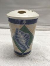 Favorite Things seashell design toothbrush holder ceramic