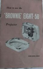 Instructions cine projector  KODAK BROWNIE EIGHT-58 8mm  - CD/Email