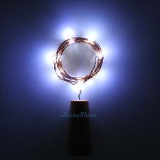 8pcs Wine Bottle Stopper Cork Shaped LED String Lights Party Xmas Lamp 2m 20led