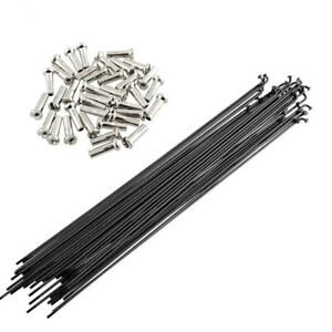 BMX Bicycle Stainless Steel Spokes 14G 2.0mm 75 count 186mm BLACK