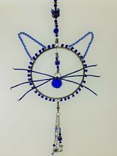 Blues Cat!  Blues Jazz Cat Ring With Whiskers and Ears and a Crystal Blue Nose!