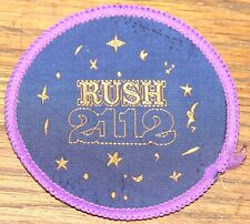 RUSH 2112 ORIGINAL VINTAGE CIR 1980 EMBROIDERED WOVEN COLTH SEWING SEW ON PATCH