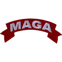 MAGA - RED RIBBON -  IRON or SEW ON PATCH