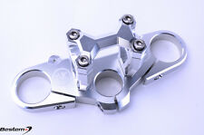 Ducati Monster 696/796/1100 CNC Triple Tree Clamp by Temple Valley Custom Silver