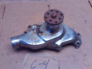 GM USED WATER PUMP CHROME CORE IMPALA CHEVELLE SS NOVA L79 CAMARO SBC 1967 1965