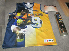WEST COAST NIC NAITANUI OFFICIAL AFL SIGNED LIMITED PLAYER PICTURE JUMPER + TIN