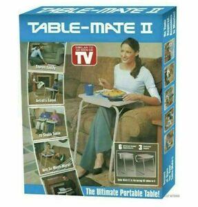 ADJUSTABLE TABLE MATE II PORTABLE TV DINNER LAPTOP TRAY FOLDING DESK SOFA BED